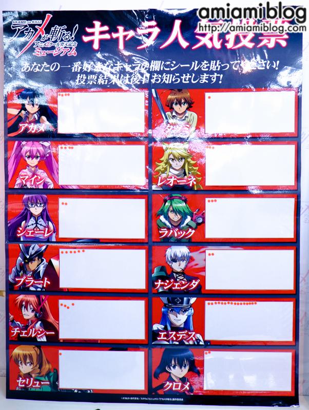 Akama ga Kill character popularity