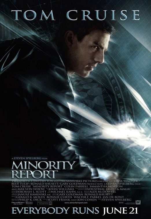 Minority Report    Visual Effects Test Cinematographer Directed by Steven Spielberg Cinematography by Janusz Kaminski Visual Effects Supervisor Scott Farrar, Industrial Light and Magic Visual Effects Producer Chip Houghton, Imaginary Forces Testing in cooperation with Reel-EFX