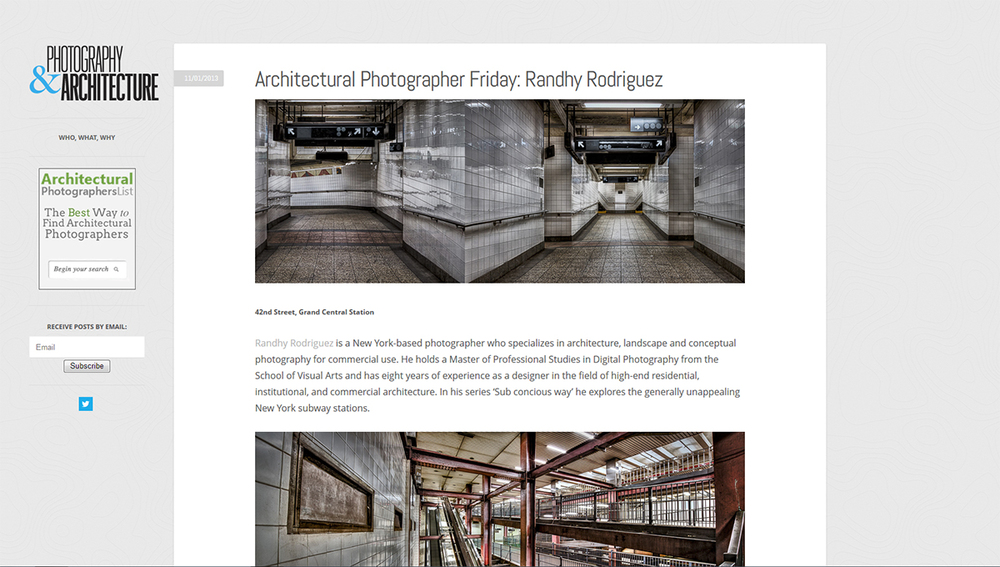 Photography & Architecture Features Sub conscious way