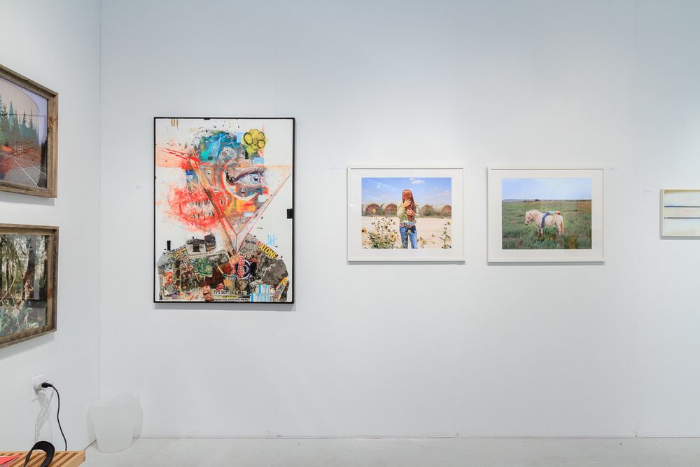 Left to right, works from  Anna Beeke ,  Wyatt Mills ,  Ilona Szwarc  and  Mark De Wilde