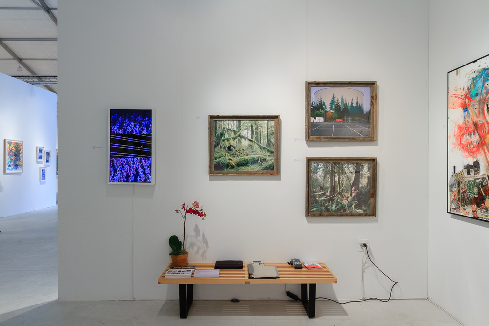 Left to right, works from  Frederick Paxton,   Anna Beeke  and  Wyatt Mills