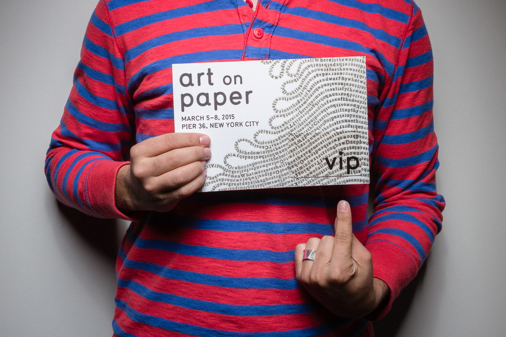 Art on Paper VIP Card