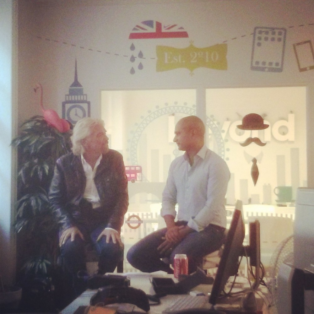 Richard Branson popped in to the office to say thanks