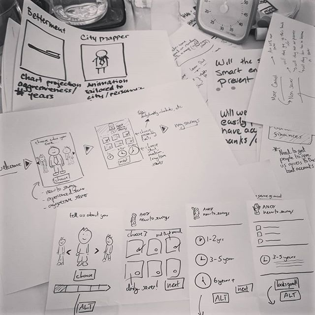 Sketching out some crazy 8s during #DesignSprint workshop in #Boston
