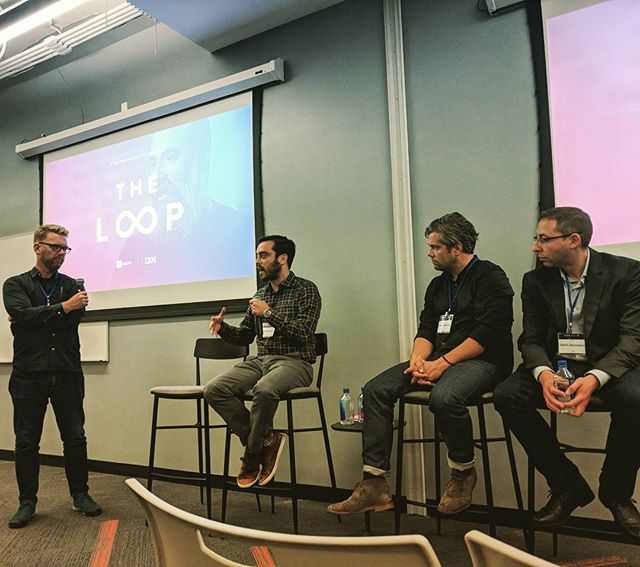"Attending the premiere of #IBMs ""THE LOOP"" documentary, presented by #InVision with @nickmanluccia. Hearing about #design #transformation in one of the world's most #innovative enterprise companies. Lovely!"