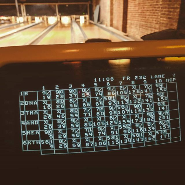 You know what, I'll take that 201 #bowling #thegutter #playoffs #team #sparenoone #brooklyn #gutterball