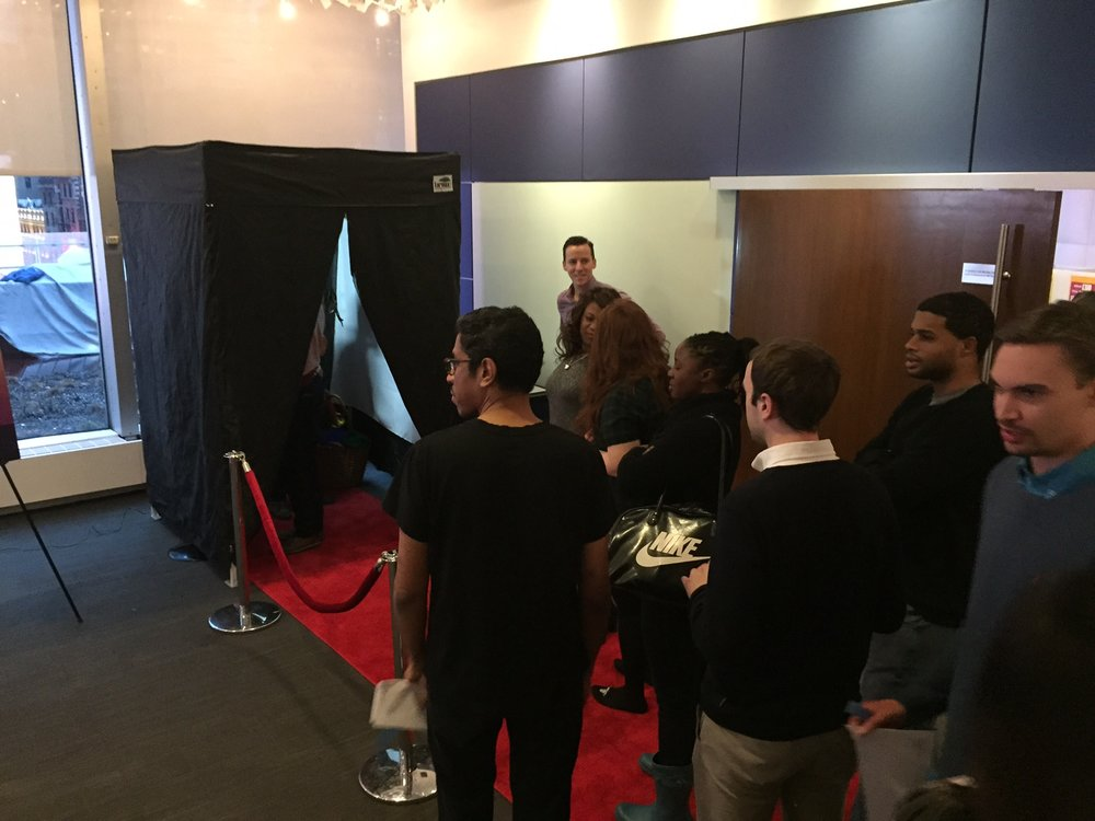 Viacom employees couldn't wait to get in to the I AM Booth!