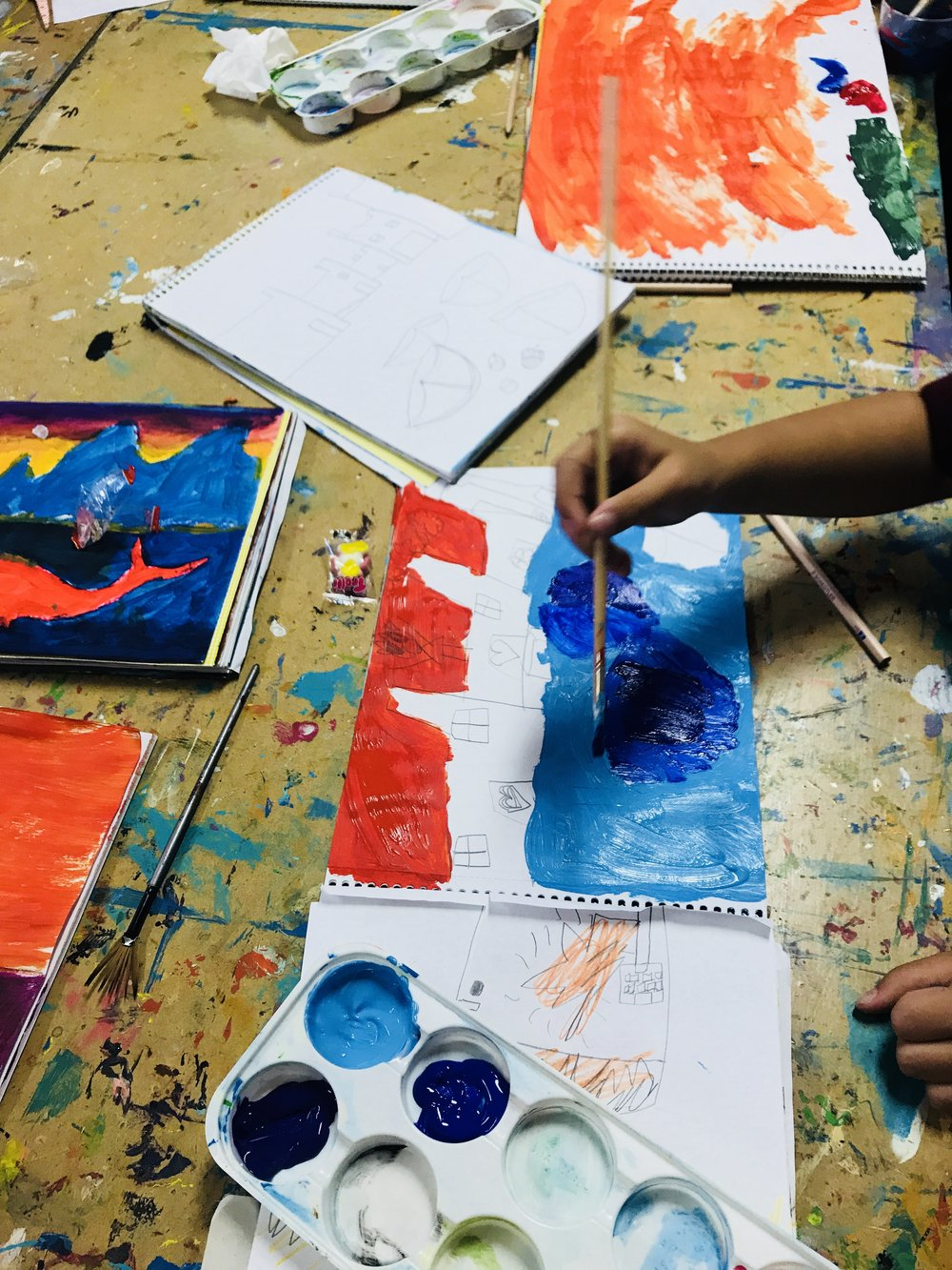 MAKE STUFF   In our class for 4 year olds (Kindy age) we work on building fine motor skills in preparation for school. Children experiment with various art materials such as paint, pastels, collage and clay. Parents are encouraged to remain in the room with their children.   60 min session.