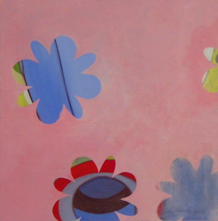 "flowers 3, 2004, oil on canvas, 24""x24"""