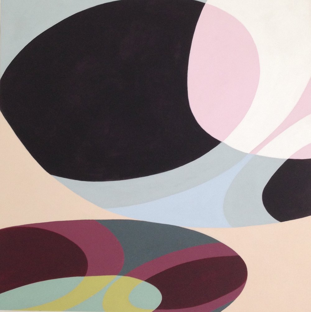 "warp 14, 2015, acrylic on canvas, 32"" x 32"""