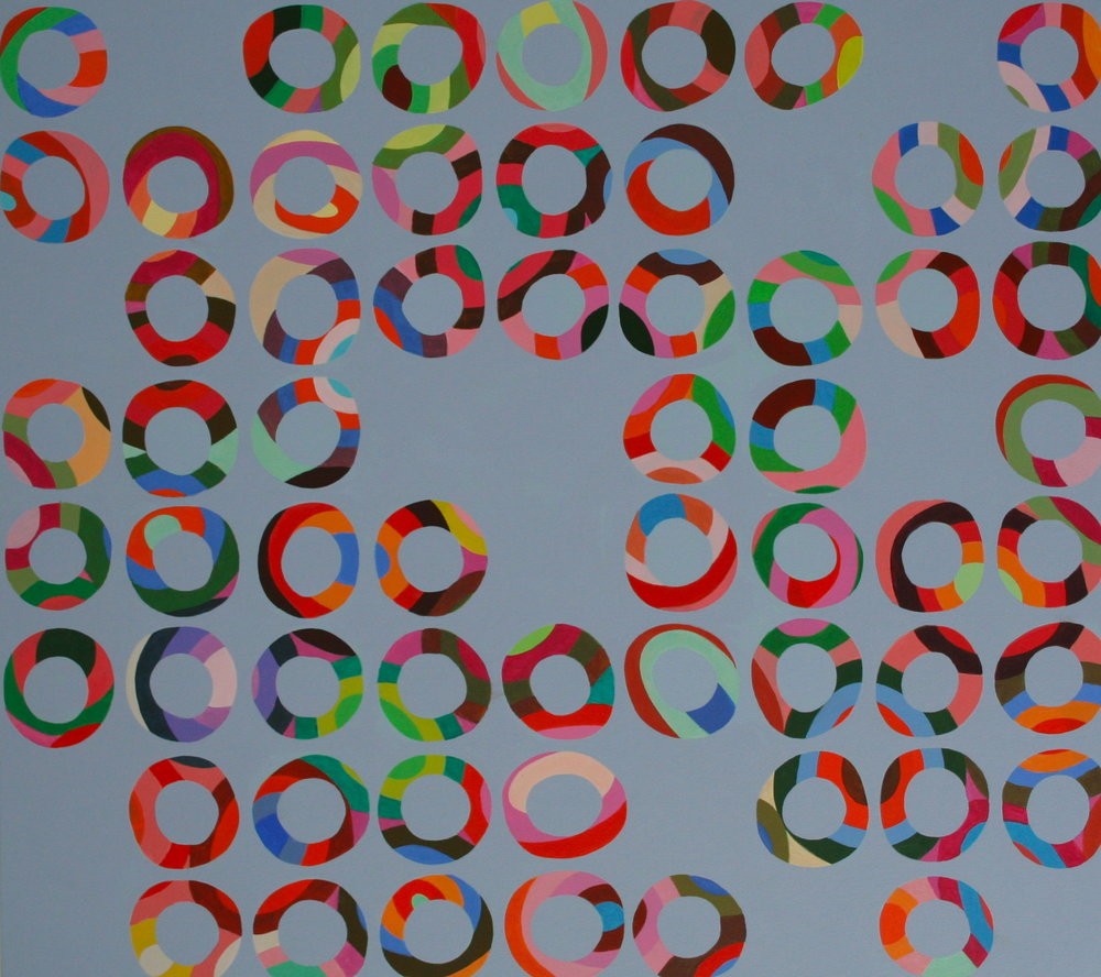"layers 30, 2011, acrylic on canvas, 36"" x 32"""