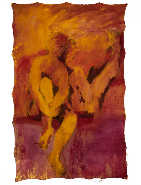 Between Cloth & Skin Series 2006. No.5 140 x 120cm. Acrylic on Calico