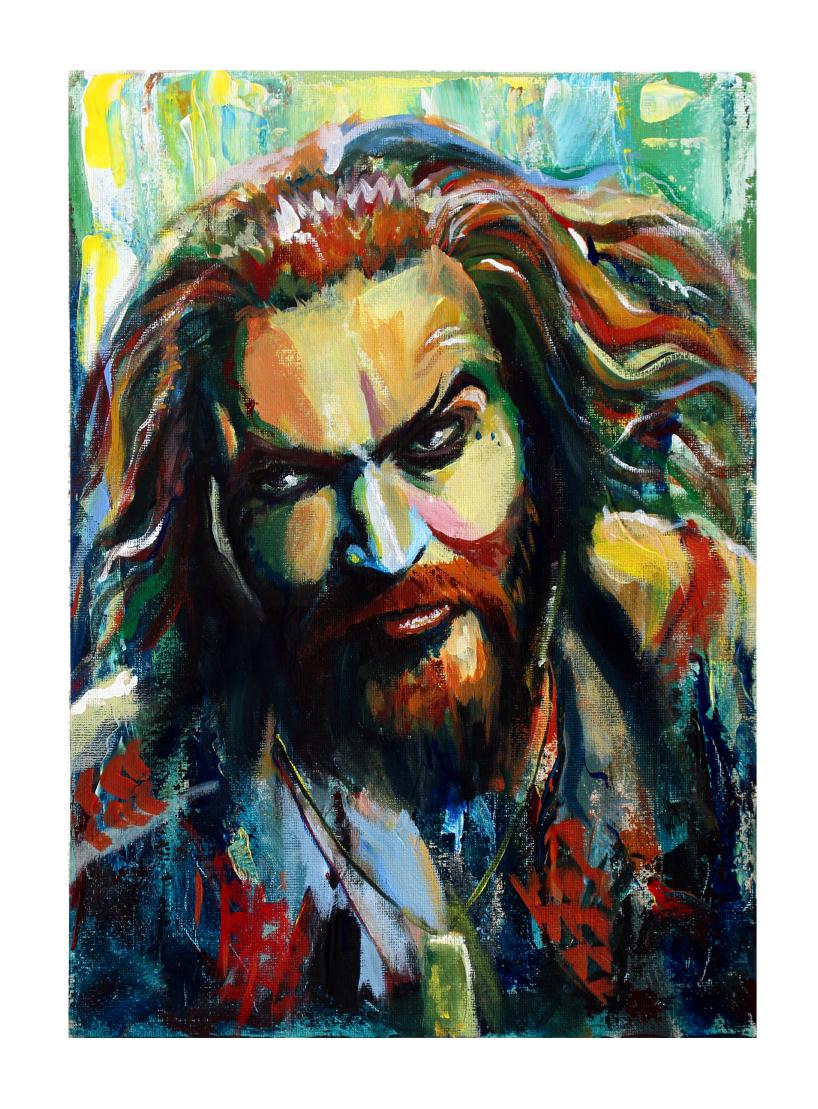Jason Momoa/Aquaman - Acrylic Painting