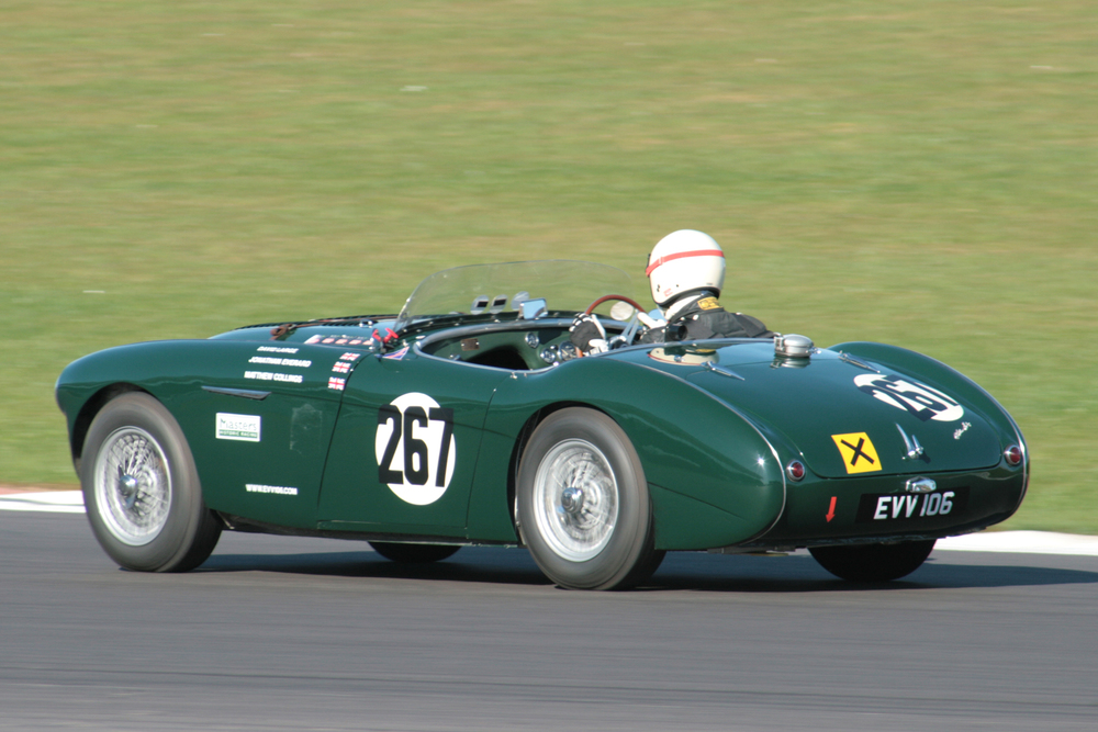 David Large on his way to 12th in his Austin Healey 100S