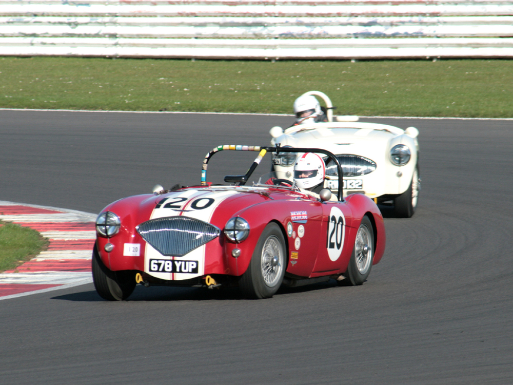 Jonathan Abecassis headed the Thornton/Garrett Austin Healey 100S but only briefly!