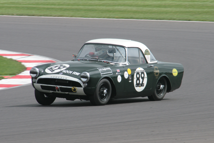 Great to see the Sunbeam Alpine Le Mans Coupe out with us again, driven by Keith Hampson and Tristan Bradfield.