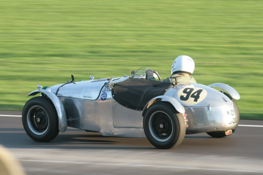 Jean-Paul Mason presses on in Chris Guest's Cooper T21 fitted with 1350cc XPAG to take a fine 3rd.