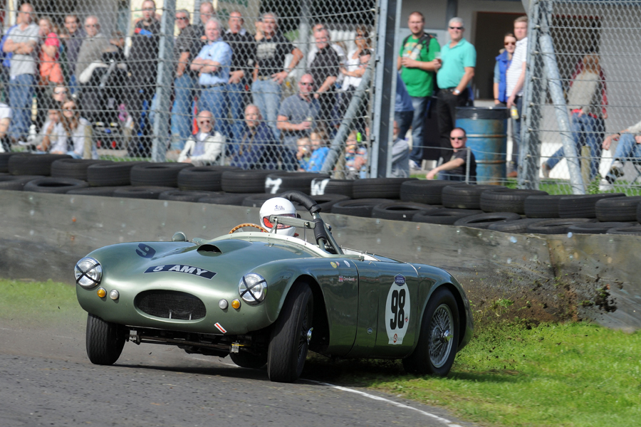 The RGS Atalanta smote the barriers at Quarry during the Historic Aston Race and incurred too much damage to start the FISCAR race
