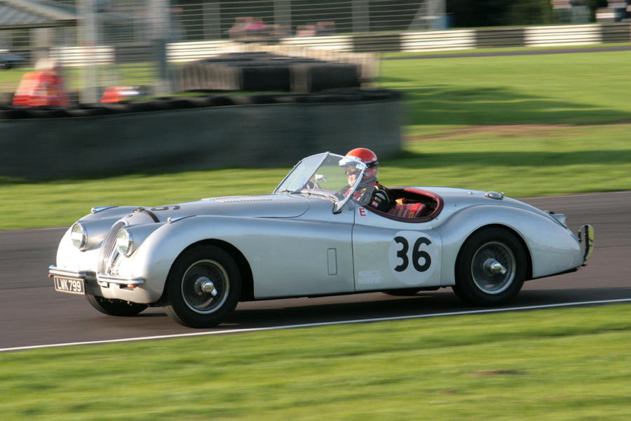 Nick Wilkins shared his XK120 with 'Whizzo' Williams to finish 20th.   Photo - John  Turner