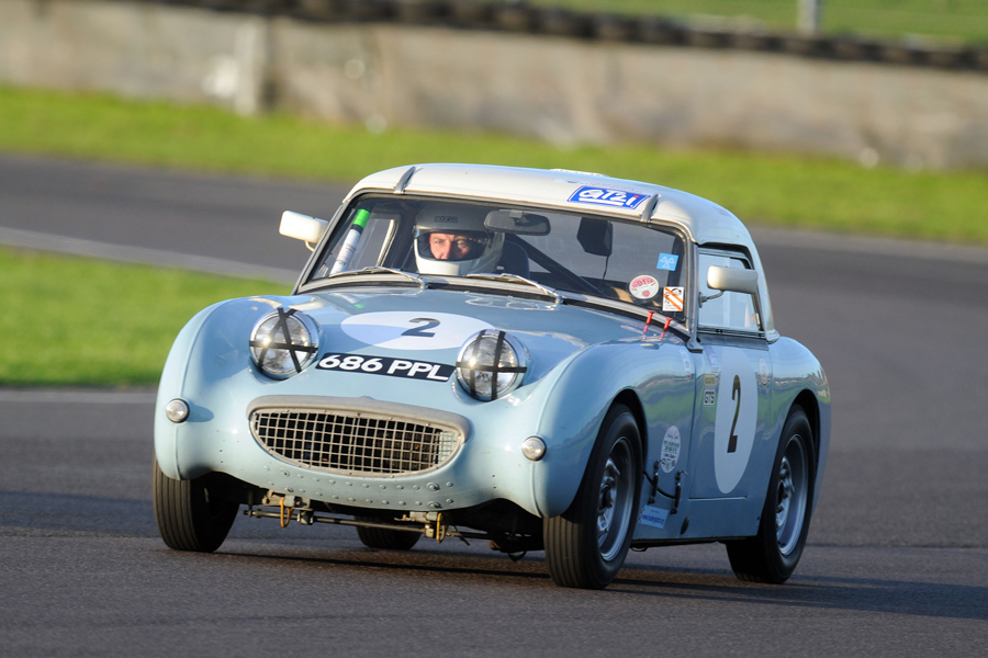 John Tewson in the Frogeye was the sole member of the Roadsports class and qualified 5th