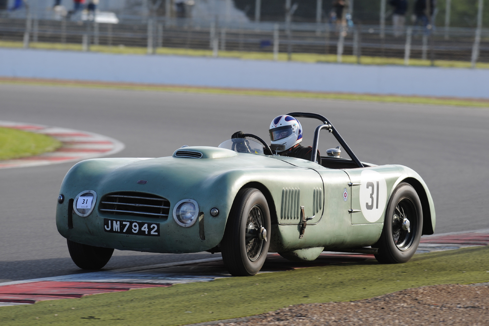 Some 'shed'! Great Allard J2X Le Mans driven by owner Tom Walker to 4th.   Photo - Jeff Bloxham