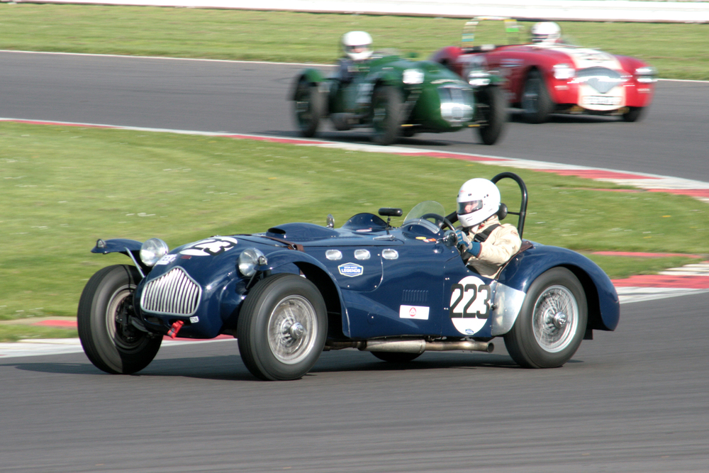 Till Bechtolsheimer flew in from the States and drove his Allard J2 beautifully to finish 3rd overall and first in class.Photo - John Turner