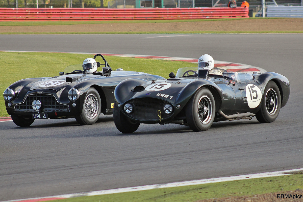 'THE ALL BLACKS'  by Martin Melling (Aston Martin DB3) and Matt Grist (HWM Jaguar) Photo - Bob Bull (RBMApics)