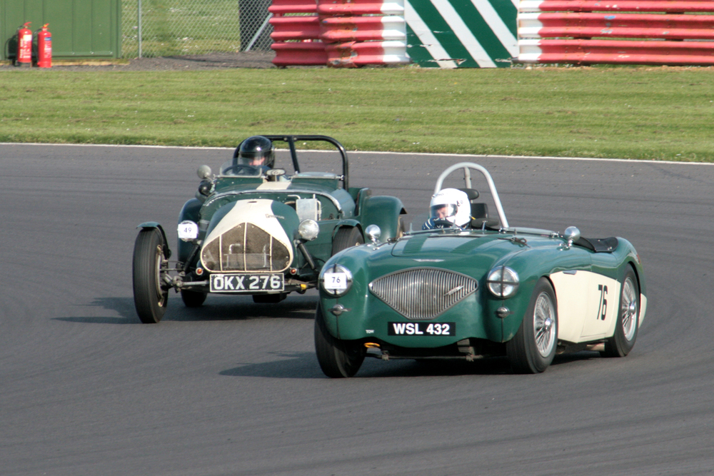 'DUOTONE ' by James Wilmot-Smith (Austin Healey 100) and Nick Leston (Gregory V8)  Photo - John Turner