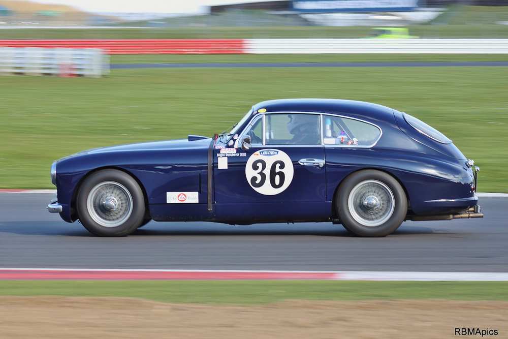 Nigel Batchelor in his Aston Martin DB2/4 reminding us of a time when you could buy a road car and take it racing at the weekends.    Photo - Bob Bull (RBMA pics)