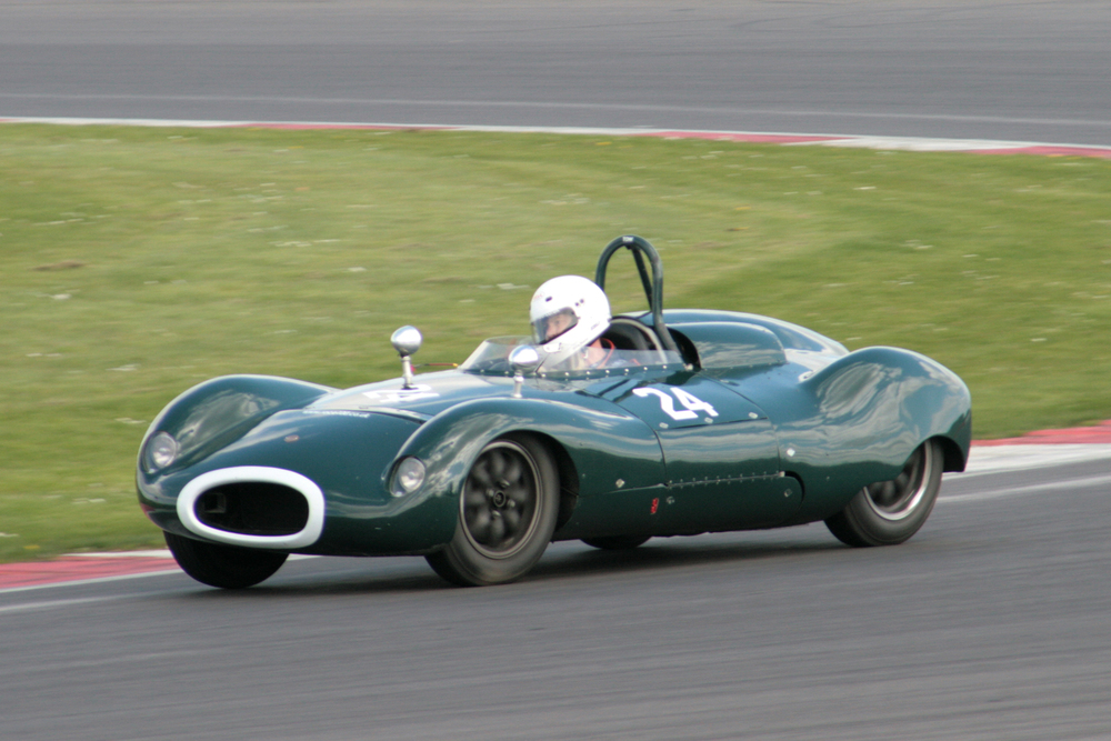 Mike Thorne finished a fine 10th in his Cooper Bobtail FWB. Mike runs an Austin Healey with us - see GAT