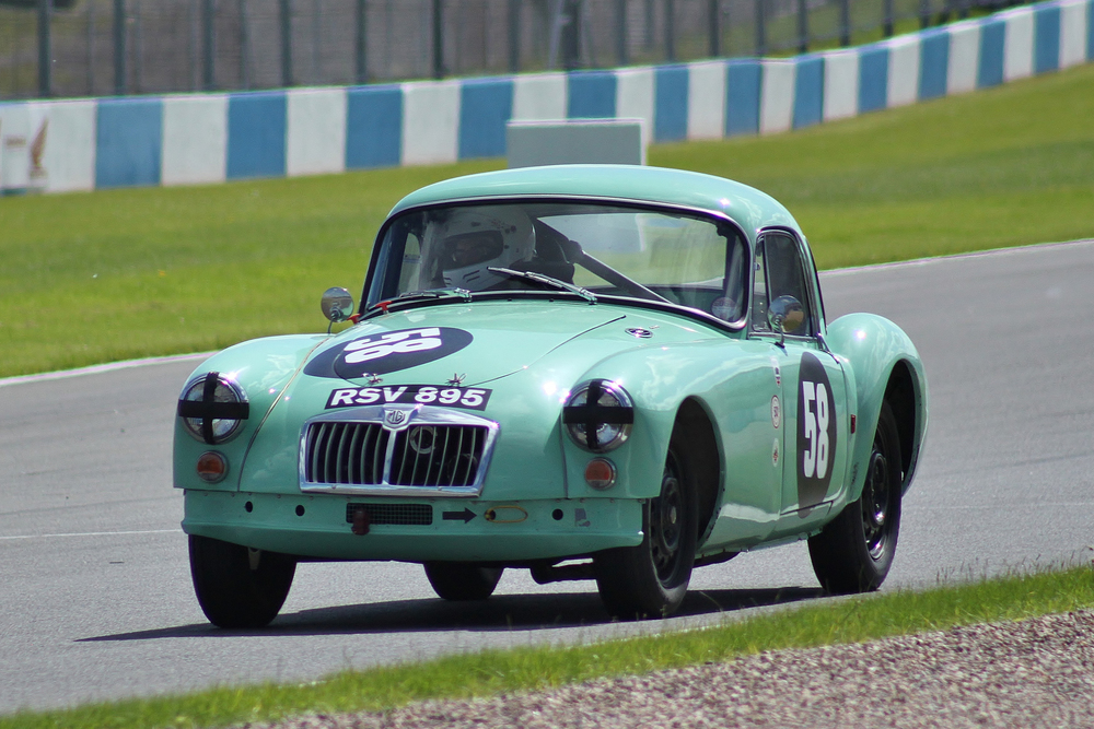 Sadly Andy Moore took an early bath, the MGA expiring with engine failure.                            Photo - Bob Bull