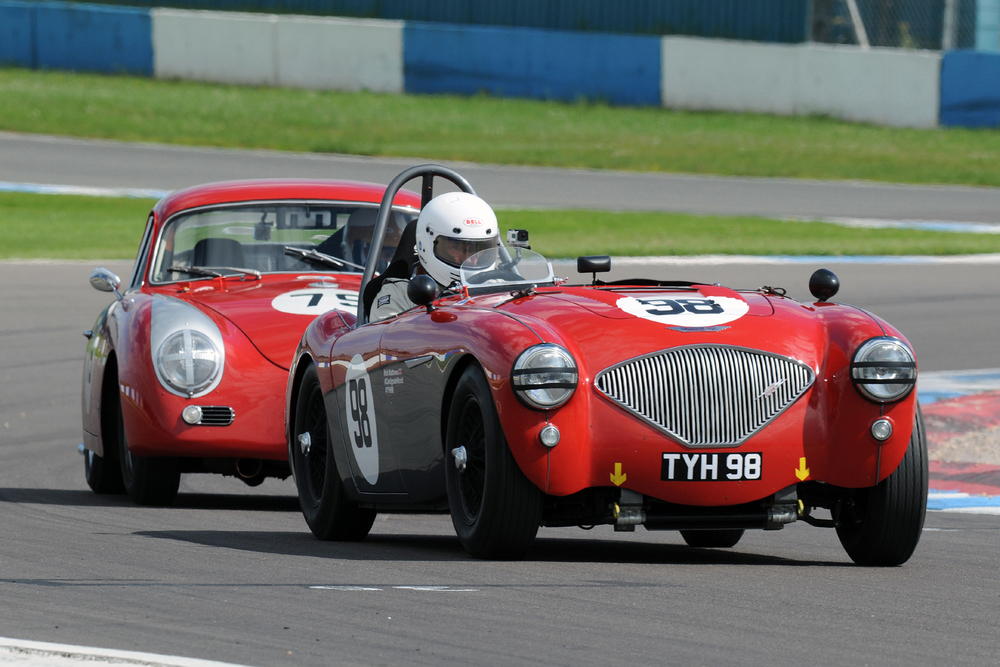 Nick Matthews powered his Austin Healey to 3rd by stealth!                                                        Photo - Steve Jones