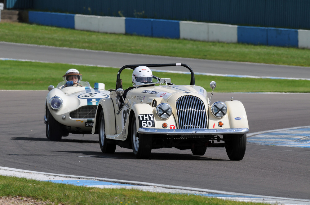 As it was a Morgan meeting, last pictorial word to Richard Thorne, here leading David Bennett, albeit not for long!  Photo - Steve Jones