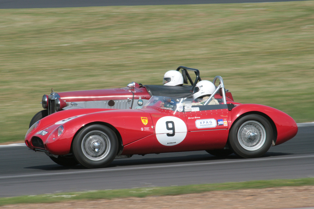 George Edney also failed to finish in the pretty MG Lester Sports              - Photo - John Turner