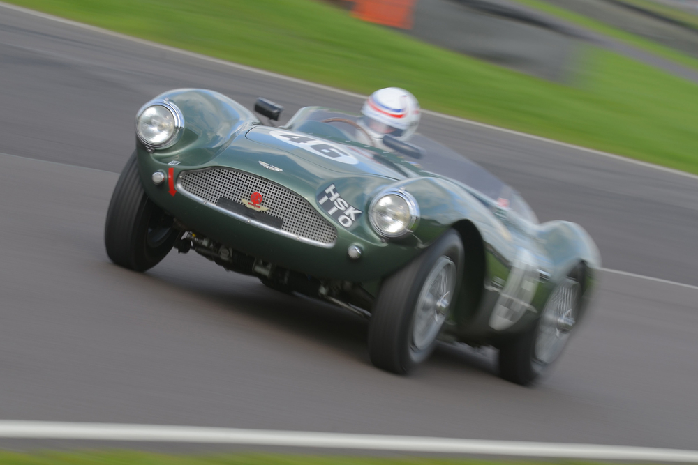 Stunning speed shot of stunning car. Simon Hadfield gave a master class in Wolfgang Friedrichs Aston Martin DB3S, one of 3 of these most beautiful products of Feltham entered in this race.    Photo - Ollie Read