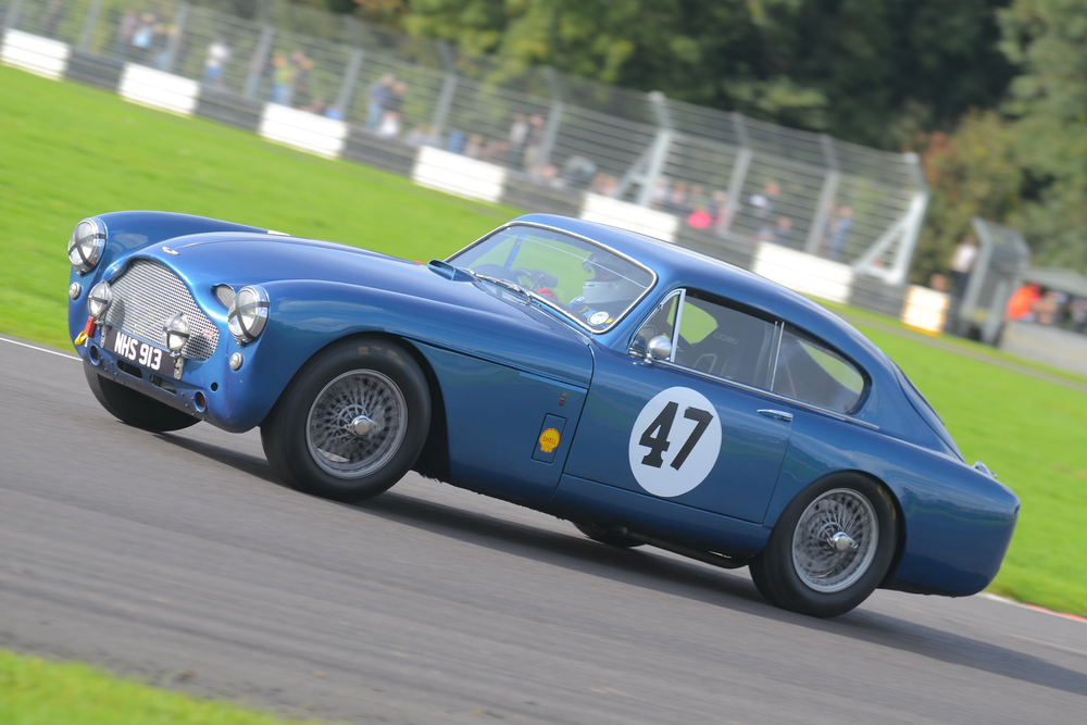 Andy Shepherd in an Aston! The other DB MkIII in the race and very kindly loaned by Simon Jefferies  - Photo - Ollie Read