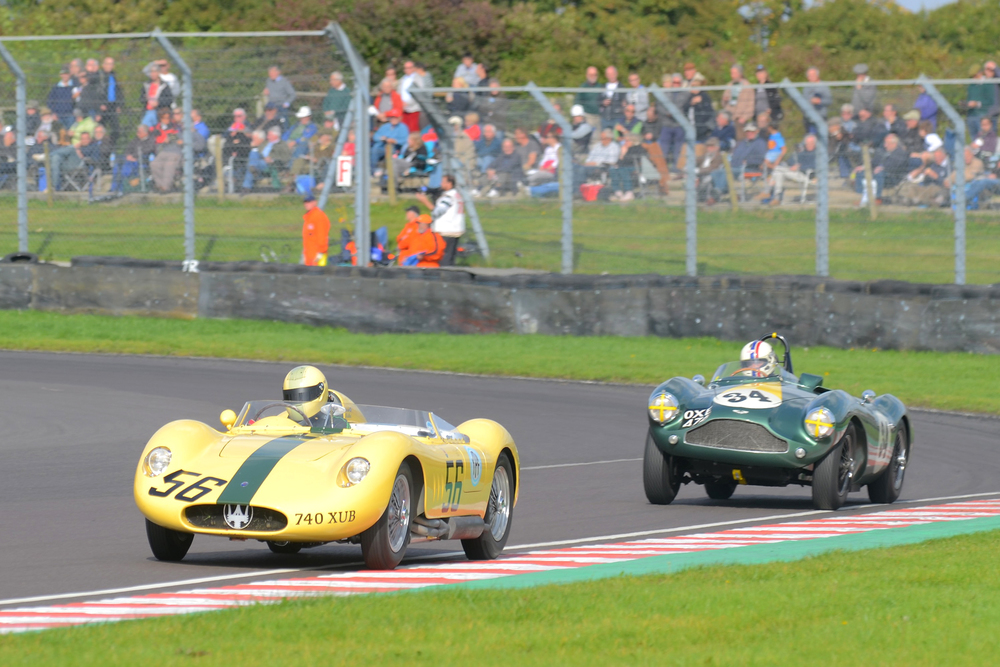 Both the McCulloch Maserati and the Boultbee-Brooks Aston were capable of lapping faster than the GT cars ahead of them but neither was able to get into the battle for 2nd place that raged in front of them and they had to settle for 5th and 6th. Photo - Ollie Read