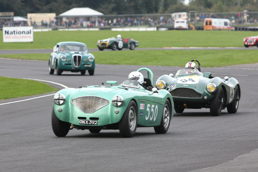 Exiting the Esses, Martyn Corfield and Steve Boultbee-Brooks finished this close, 4th & 5th     Photo - Pat Arculus