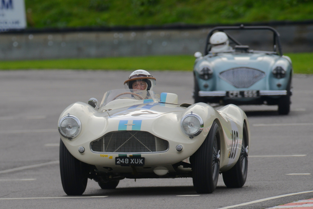 David Bennett, one of our staunchest supporters in his ASton Martin DB3S (25th)         Photo - Ollie Read