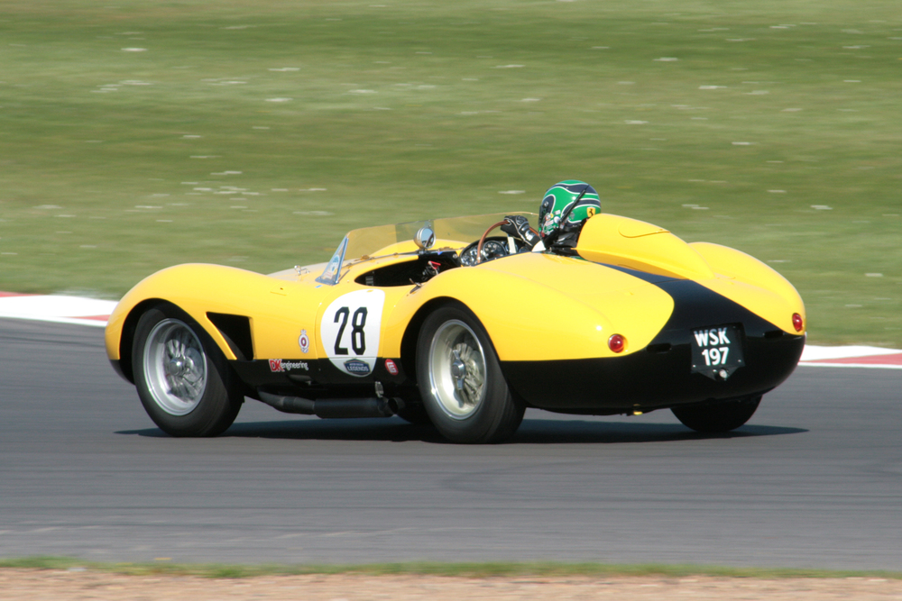 James Cottingham giving it large in the fabulous Ferrari 500 TRC                                             Photo - John Turner