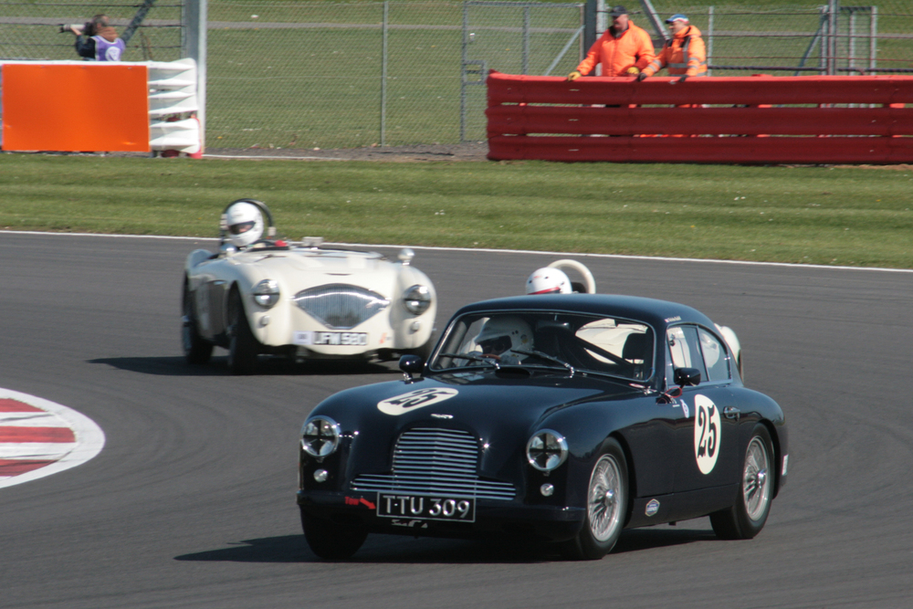 Nick Ruddell retired his aston Martin DB2/4 after 8 laps                                                      Photo - John Turner