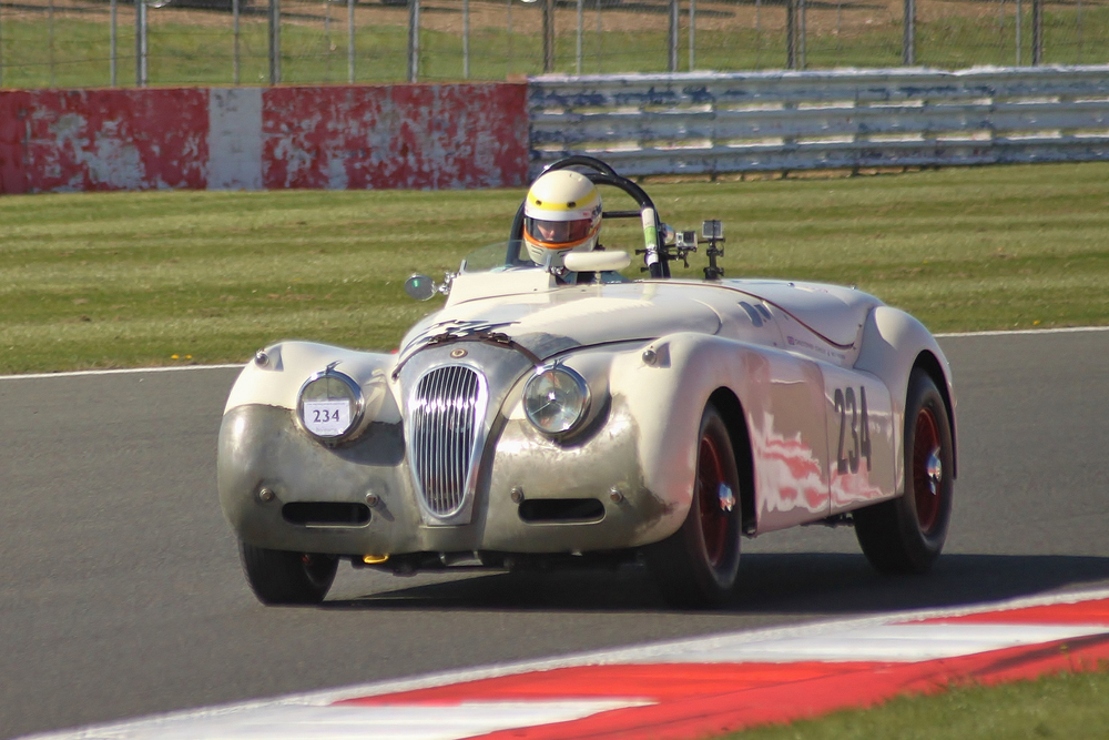 Chris Scholey presses on in a fine untroubled run that took the XK120 to 8th overall            Photo - Bob Bull, Tripos media