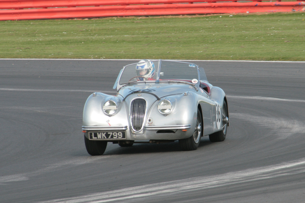 Nick wilkins retired his Jaguar XK120 after 7 laps                                                                            Photo - John  Turner