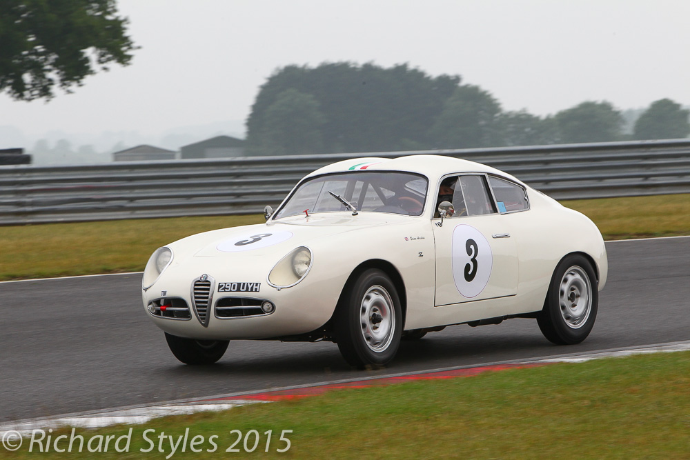 Brian Arculus qualified 5th but had to withdraw the lovely Alfa romeo guilietta SVZ with a blown head gasket