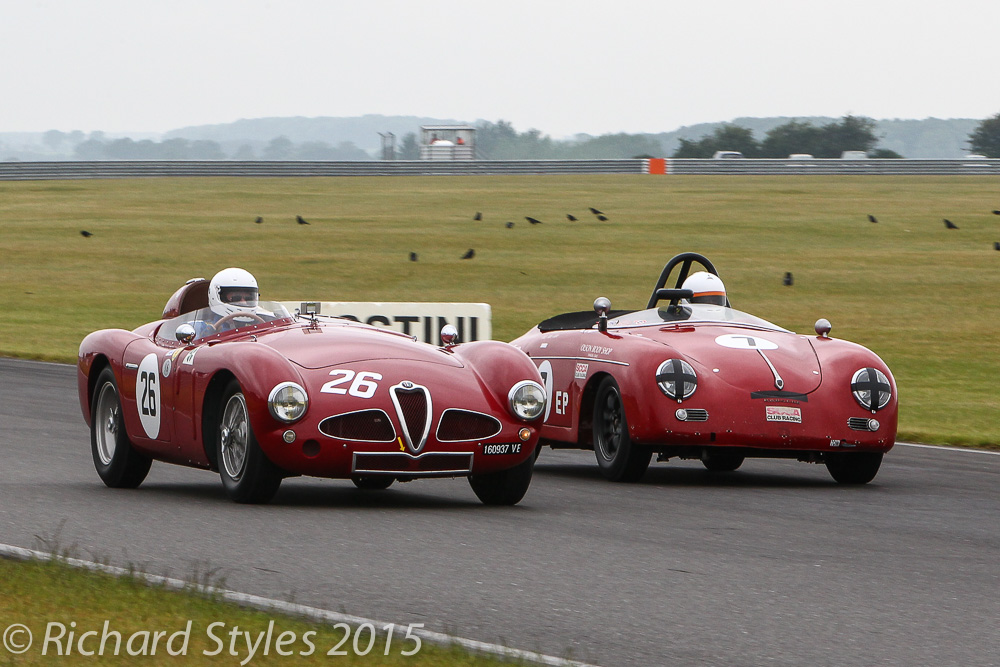 Great battle between Chris Mann in the Alfa Romeo Disco Volante and Sean McClurg in the Porsche Speedster went on for several laps