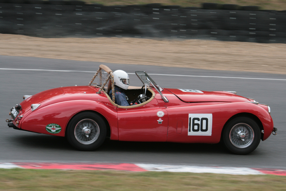 Geoff Ottley in his beautifully presented XK120 (5th)                                                                     Photo -John Turner