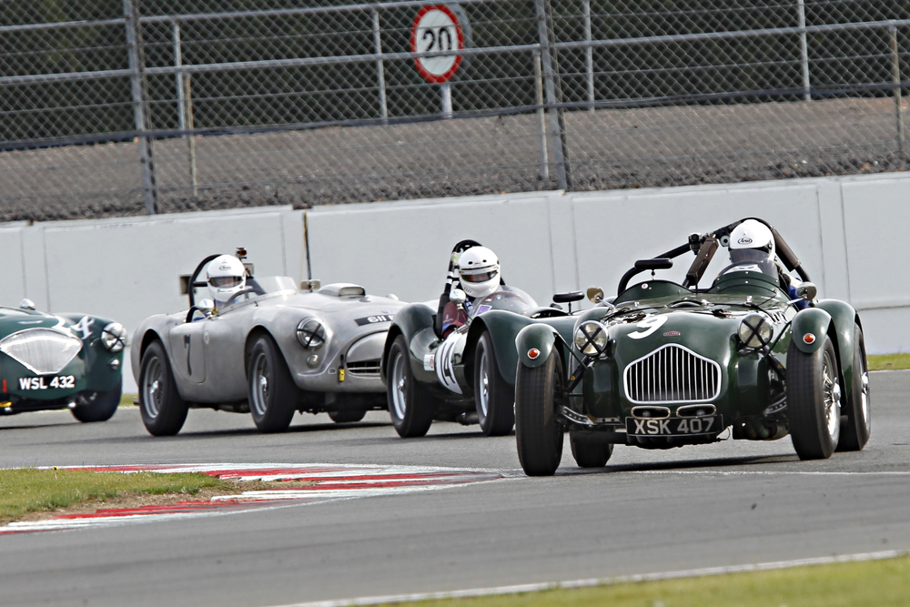 The Oliver and Tim Llewellyin Allard J2 annexed pole by 2 tenths from the Martyn Corfield Austin Healey  Photo - Mick Walker