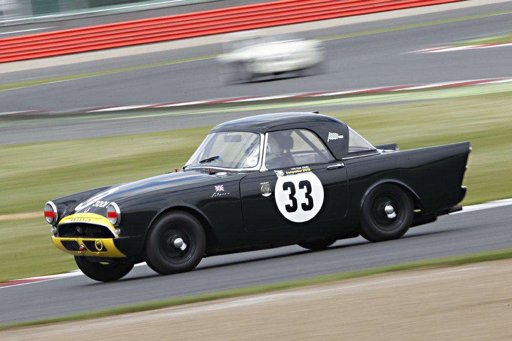 Keith Hampson at speed in the Sunbeam Alpine Le Mans                                                    Photo - Mick Walker