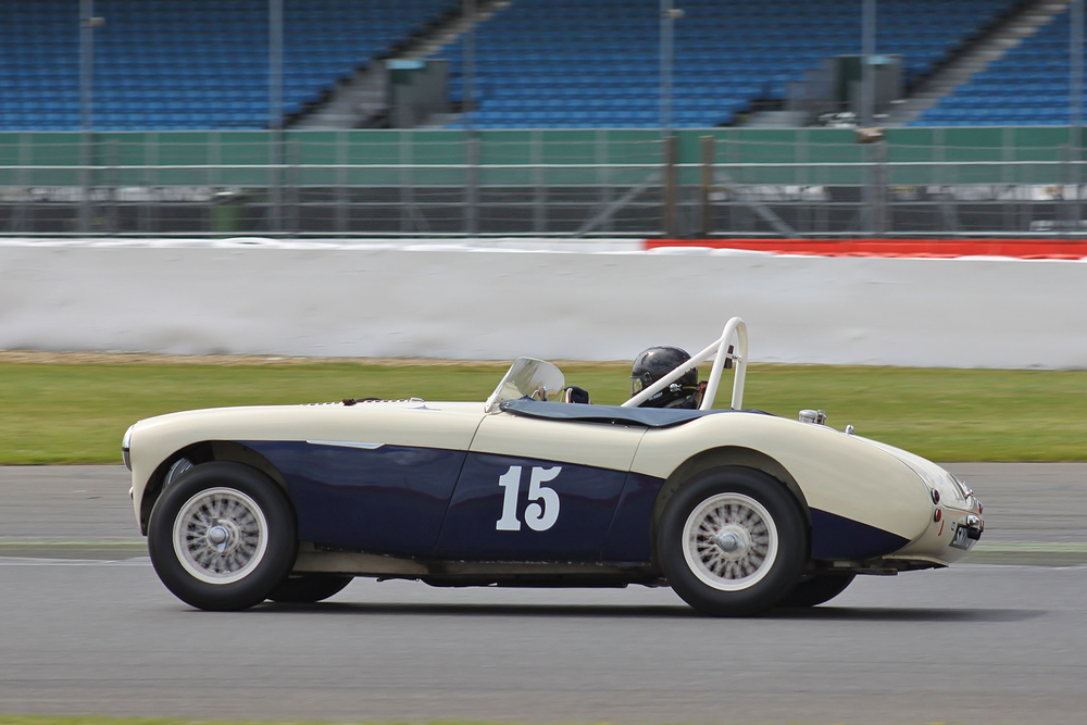 Paul Griffin brought his Austin Healey 100S home 8th                                     Photo - Bob Bull, Tripos m,edia;