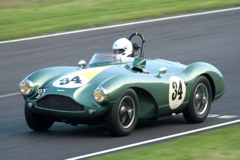 Steve Boultbee Brooks took a terrific double when he won both the FISCAR Historic Inter-Marque race and later the Jon Gross Memorial Trophy Race in his Aston Martin DB3S Photo - John Turner